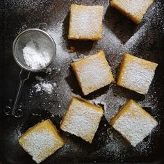 "Meyer Lemon Bars:  Many of us have lemon trees and no lemon should be wasted.  Pick Yin is a Malaysian woman working and living in Singapore who loves to cook and explain things.  She says, ""Love what you have - when life gives you lemons, make lemon bars."""