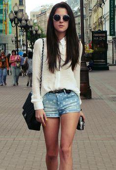 Zara  Shirt / Blouses, Pull & Bear  Shorts and Chanel  Bags