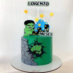 Avengers Birthday, Boy Birthday, Bolo Olaf, Fruit Cake Watermelon, Hulk Birthday Cakes, Pastel Mickey, Hulk Cakes, Hulk Party, Artist Cake