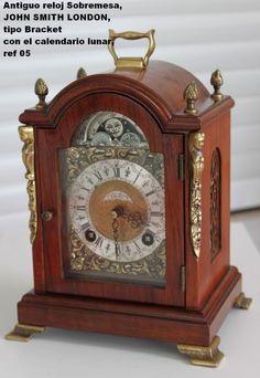 Antiguo reloj Sobremesa, JOHN SMITH LONDON, tipo Bracket,calendario lunar, rf 05 | eBay