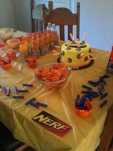 Nerf Birthday Party Ideas! Nerf gun birthday party favor ideas! Get goodie  bag ideas