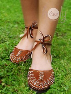 Handmade Brown Leather Sandals Leather Sandals by HolyCowproducts