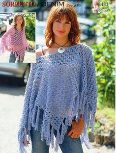 Womens Poncho knitting pattern pdf download Girls Poncho | Etsy Knitted Poncho, Crochet Shawl, Knit Crochet, Knitted Bags, Crochet Winter, Free Crochet, Girls Poncho, Ladies Poncho, Brad Pitt