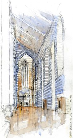 Drawing Perspectives: More from Italy... Stephanie Bower. Orvieto's Cathedral!