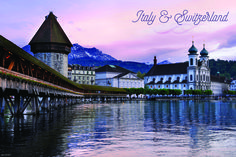 Take in the majestic scenery along Lake Lucerne on our Italy & Switzerland vacation!