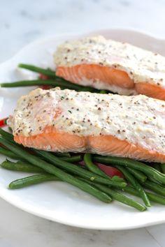 Sour Cream Baked Salmon Recipe