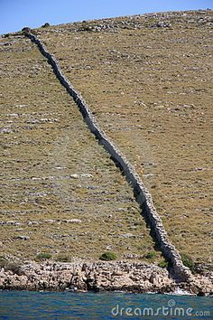 Kornati islands - Croatia - dry-stone delimitation of property #drywall #croatia