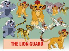 10 Lion Guard Clipart PNG Lion Guard Digital Graphic Image Clip Art Scrapbook Invitation clipart INSTANT DOWNLOAD printable 300 dpi (2.34 USD) by AlphaDesignHub