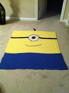 Easy minion crocheted blanket