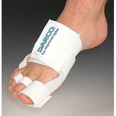 Darco Toe Alignment Splint, One Size Fits All, White Can Be Used for Hallux Valgus, Hammer Toe and Tailor's Bunion