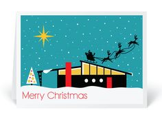 Mid Century Christmas Cards Retro Modern Holiday Cards Harrison Greetings Business Greeting, Christmas Card Mid Century Snow Scene By On Deviantart, Beautifully Illustrated Mid Century Modern Christmas Cards, Modern Christmas Cards, Retro Christmas, Vintage Holiday, Christmas Holidays, Christmas 2019, Christmas Images, White Christmas, Christmas Trees, Christmas Ornaments