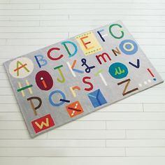 Kids Colorful Alphabet Abc Rug Modern Rugs The Land Of Nod
