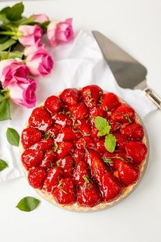 Celebrate Mom in the *sweetest* way possible on Mother's Day with this Homemade Strawberry Tart Hack recipe.