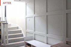 Board and Batten Wall - Basement Remodel Photos Attic Bedroom Small, Attic Bathroom, Basement Bathroom, Bathroom Grey, Bathroom Plumbing, Cheap Basement Remodel, Basement Remodeling, Remodeling Ideas, Attic Renovation