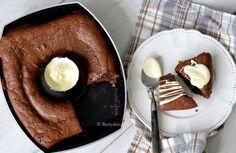 Sluit je barbecue avond af met een heerlijke stukje taart! Maak bijvoorbeelde deze brownie van de bbq, met gesmolten witte chocolade!