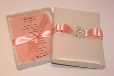 Beautiful Wedding Invitation Box by BoxedWedding on Etsy