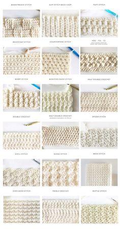 40 free crochet stitches from Daisy Farm Crafts - Salvabrani .- 40 kostenlose Häkelstiche von Daisy Farm Crafts – Salvabrani gestrickt ideen 40 free crochet stitches from Daisy Farm Crafts – Salvabrani, - Stitch Crochet, Tunisian Crochet, Scarf Crochet, Crochet Afghans, Crochet Granny, Crochet Stitch Tutorial, Crotchet Blanket, Crochet Blanket Border, Crochet Cocoon