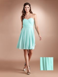 Adore Donna Morgan-Lindsey in Spearmint  #donnamorgan #bridesmaid #wedding #green