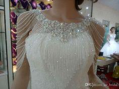 2015 Luxurious Crystal Rhinestone Jewelry Bridal Wraps White Lace Wedding Shawl Jacket Bolero Jacket Wedding Dress Beaded Bridal Winter Coat From Cc_bridal, $27.86   Dhgate.Com