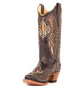 Corral Women's Chocolate Brown/Gold Sequin Boot - R2549 MY DREAM BOOTS. NEEEED!
