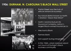 Durham North Carolina, Wipe Out, Cultural Center, Wall Street, Economics, Black History, The Past, Around The Worlds, Education