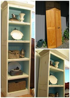bi-fold doors made into a book case