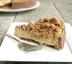 Hungry Couple: Chocolate & Peanut Butter Crunch Cake -- walkers shortbread crumbs for crust, pb cheesecake filling, and crumb topping. looks yummy!