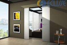 Sliding doors that run on a track built into the wall are known as pocket doors. Unlike most doors which swing open on hinges, pocket doors, when opened, disappear into the walls and when closed, slide out of the walls. The concept of pocket doors is not Double Pocket Door, Sliding Pocket Doors, Sliding Door Systems, Double Doors, Interior Exterior, Interior Design, Interior Doors, Modern Interior, Architrave