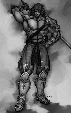 Soul Calibur Mitsurugi sketch by ErikVonLehmann