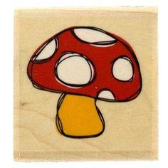 Stampabilities Sketchy Mushroom Rubber Stamp (Hobby Lobby) (own!)