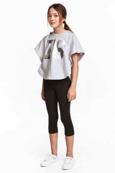 3/4-length leggings Model