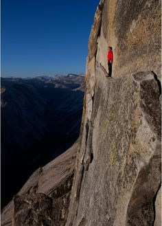 Just standing around at Half Dome in Yosemite, taking in the view. (Not so much my cup of tea)