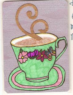 Teacup artist trading card
