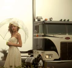 A newer version of the old Peterbilt Class ads with model Agnes Olech