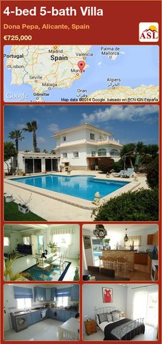4-bed 5-bath Villa in Dona Pepa, Alicante, Spain ►€725,000 #PropertyForSaleInSpain