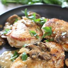 Easy Chicken Breasts with Mushroom Pan Sauce | Laughing Spatula