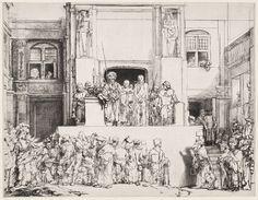 Rembrandt, Christus aan het volk getoond, staat 5 (8), 35,8 cm/ 45,5 cm (1655)