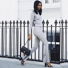 Pin for Later: 15 Ways to Make Your Favourite 2015 Trends Work This Year A ribbed grey set to help you achieve an instant groutfit. 2016 Fashion Trends, 2015 Trends, Fashion Bloggers, Spring Summer Fashion, Autumn Fashion, Street Chic, Street Style, London Models, Asos