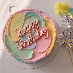 Image uploaded by 지 예린 ━━━. Find images and videos about food, aesthetic and cake on We Heart It - the app to get lost in what you love. Pretty Birthday Cakes, Pretty Cakes, Cute Cakes, Beautiful Cakes, Amazing Cakes, Cake Birthday, Happy Birthday, Birthday Cake Design, Decoration Birthday