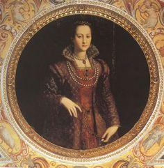 1572 Eleonora di Toledo by Allesandro Allori (Palazzo Vecchio (Palazzo della Signoria) - Firenze, Toscana Italy)