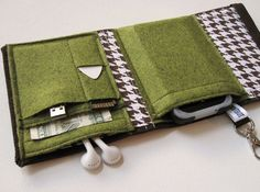 Nerd Herder gadget wallet in Moss Forest for iPod by rockitbot aka Swiss Army Wallet $32.00