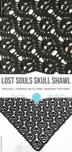 Lost Souls Skull Shawl Free Crochet PatternI know it's a little early, but you should be prepared for Halloween this year! Lost Souls Skull Shawl is an amazing, almost classic design now – it has hundreds of versions, and everybody loves it. Crochet Shawl Free, Crochet Motifs, Thread Crochet, Crochet Scarves, Crochet Clothes, Crochet Hats, Crochet Dresses, Learn Crochet, Crochet Tree