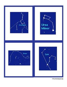"""Find the Constellations"" Cards and Star Map"