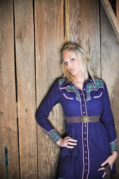 Western Shirt Dress by DaniBCouture on Etsy, $250.00