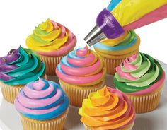 Colorful Swirls Cupcakes
