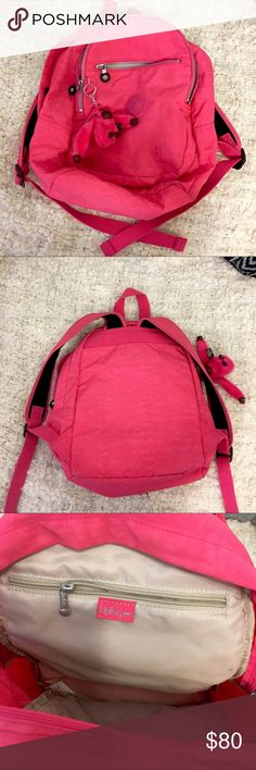 "KIPLING Hot Pink Utility Backpack Excellent condition, barely used. Hot pink Kipling backpack. Dimensions: 13"" x 13"" x 6"" Kipling Bags Backpacks"