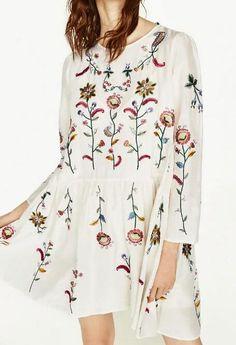 d3587ba17 2017 mulheres vestidos de algodão bordados de flores do vintage duas peças  mini dress elegante vestidos