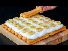 Chutnější než Tiramisu - nepečený dezert z piškotů, banánů a zakysané smetany - YouTube Pan Dulce, Cookie Desserts, Waffles, Cookies, Breakfast, Easy Cooking, Sweets, Crack Cake, Waffle