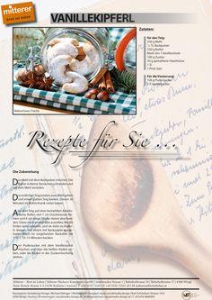 Rezept: Vanillekipferl | Mitterer – Brot ist Leben