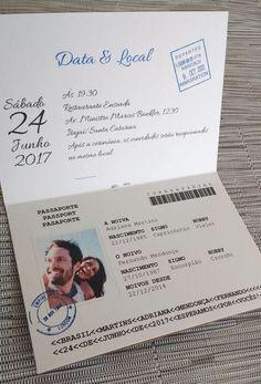 convite casamento criativo passaporte viagem (10 unidades) Passport Wedding Invitations, Wedding Invitation Cards, Wedding Cards, Our Wedding, Destination Wedding, Wedding Planning, Dream Wedding, Marry You, Wedding Photoshoot
